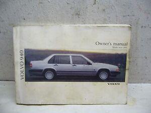 volvo 940 owners manual 1991 model ebay rh ebay co uk 1995 Volvo 940 Parts Red 1996 Volvo 960