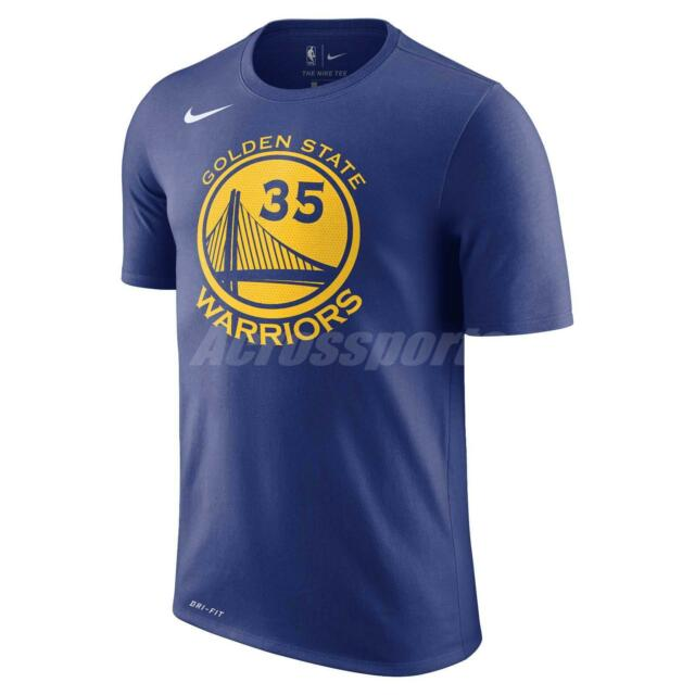 wholesale dealer 24605 b354e Nike Men Golden State Warriors Kevin Durant T-Shirt GSW KD NBA Tee  870775-497