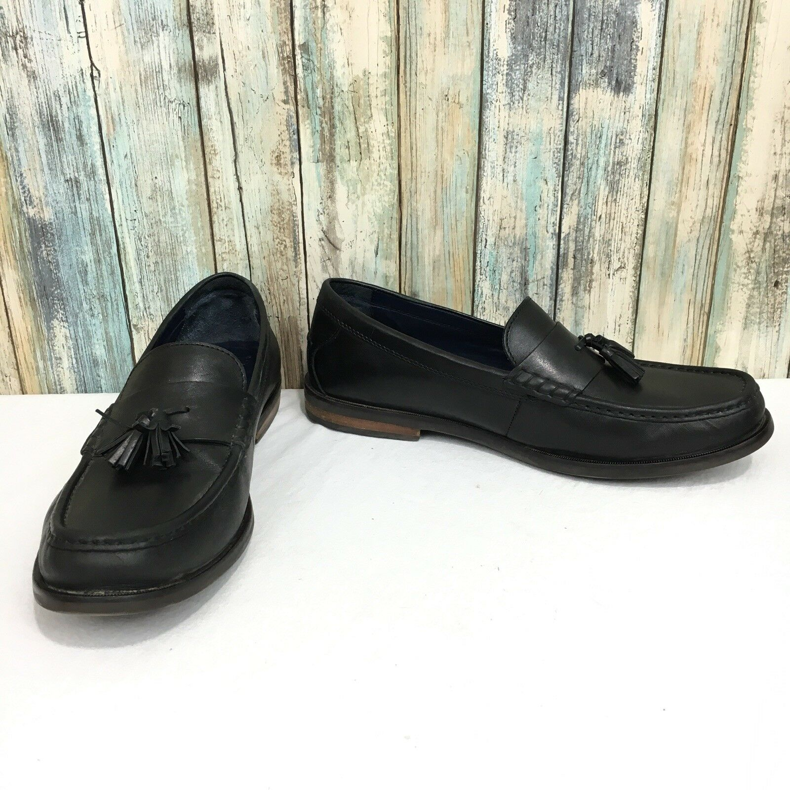 Cole Haan Pinch Grand Os Men's 12 M Black Leather Tassel Loafer shoes