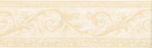 Architectural Victorian Cream Beige Scroll Leaf Vine Textured Wall paper Border