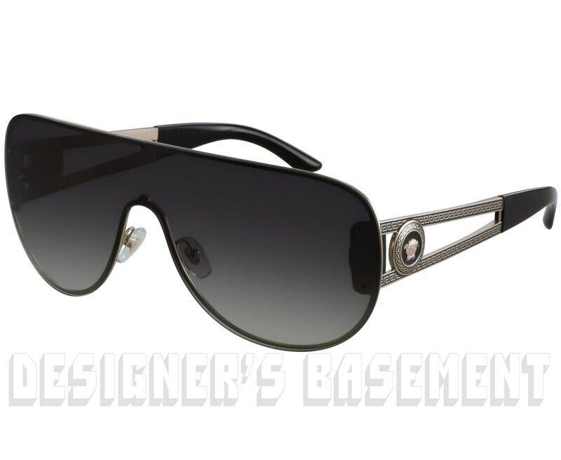 2547ba4ba0383 Versace Sunglasses Shield Ve 2166 Pale Gold 125287 Authentic Ve2166 ...