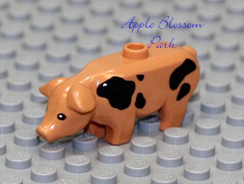 Neuf Lego Mignon Petit Ferme Tacheté Cochon Porte Aiguilles Grange Animal