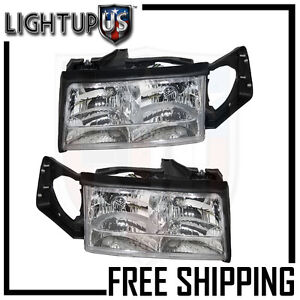 Image Is Loading Headlights Headlamps Pair Left Right Set For 97