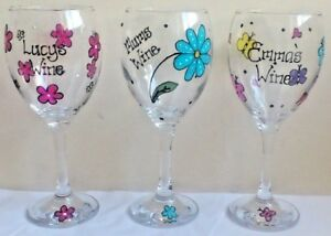 94e586efb4a Details about Wine glass Hand Painted Personalised Teacher Gift Nursery  Assistant