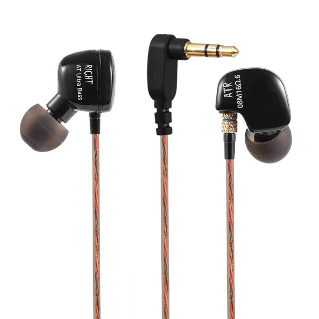 KZ ATR Dynamic Heavy Bass HiFi In-ear Earphones Noise Canceling 3.5mm Jack