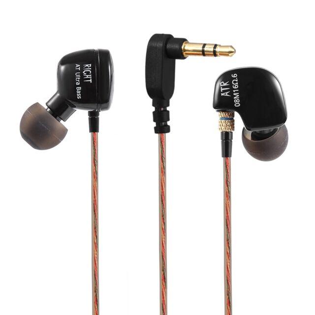 KZ ATR Dynamic Heavy Bass HiFi In-ear Earphones Noise Canceling 3.5mm Jack