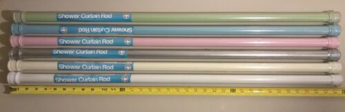 "63/"" inch Home Basics SHOWER CURTAIN ROD Expandable Adjustable Tension NEW 36/"""