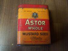 vecchio Barattolo latta Portasigarette Lattina sigarette Astor Tutto Senape Seme