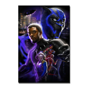 Black Panther Movie 2018 Fabic Silk Poster Canvas Print ...