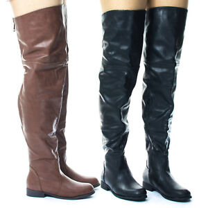 125d2961210 Image is loading Renee16W-Slouchy-Over-Knee-Thigh-High-Western-Riding-