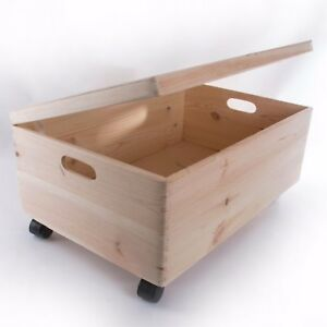 Beautiful Image Is Loading Extra Large Wooden Storage Box With Lid And