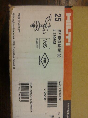 Hilti tige filetée Pivot Anchor Hanger m10//100mm MF-SKD #230608