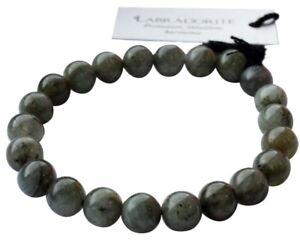 Bracelet Perles Rondes Labradorite - 8 mm