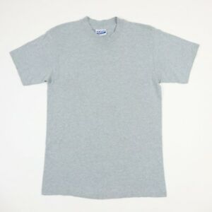 Vtg-80s-HANES-Plain-Work-T-Shirt-XS-Faded-Gray-Single-Stitch-USA-Grunge-Skate
