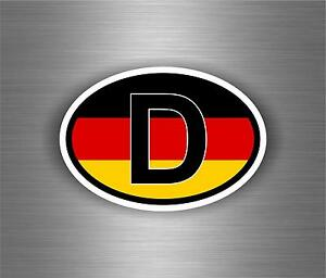 sticker car moto motorcycle vinyl code country oval d germany flag auto ebay. Black Bedroom Furniture Sets. Home Design Ideas