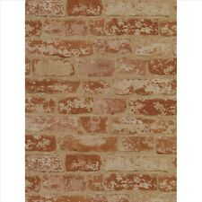 WALLPAPER BY THE YARD Red Brick Wall Wallpaper | Prepasted Surestrip York Wallpa