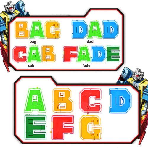 Educational Digital Magic Number Transformers Robot Toys Assemble Action Figure