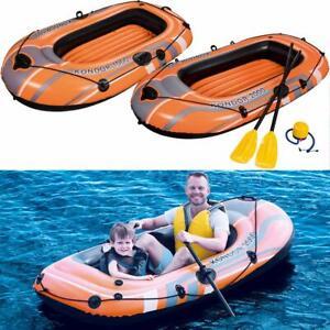 Pratique Bestway Gonflable Pêche Aviron Bateau Canot Canoë-kayak Gonflable Avec Pagaie Avirons-afficher Le Titre D'origine