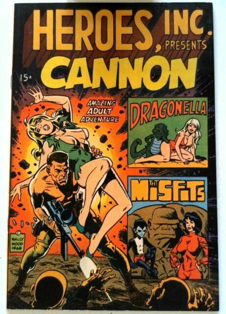 Heroes Inc Presents Cannon #1 Wallace Wood 1969 VF Silver Age Comic Book