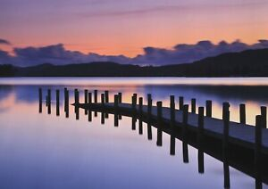 A1-Art-Poster-Of-Coniston-Water-Dawn-60-x-90cm-180gsm-Lake-District-Gift-14247