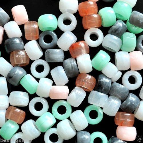 9 x 6 mm Jade Imitation Options De Couleur Wholesale 1000 Pcs Acrylique Poney perles