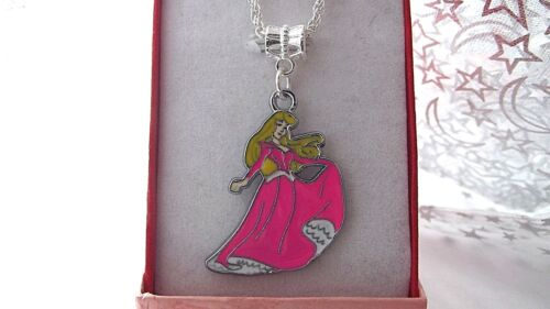PRINCESS  AURORA SLEEPING BEAUTY STRONG CHAIN 18 inch  GIFT BOXED BIRTHDAY PARTY