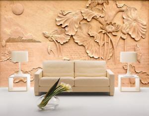 3D Stich Lotusblatt Muster6 Tapete Tapeten Mauer Foto Familie Tapete Wandgemälde