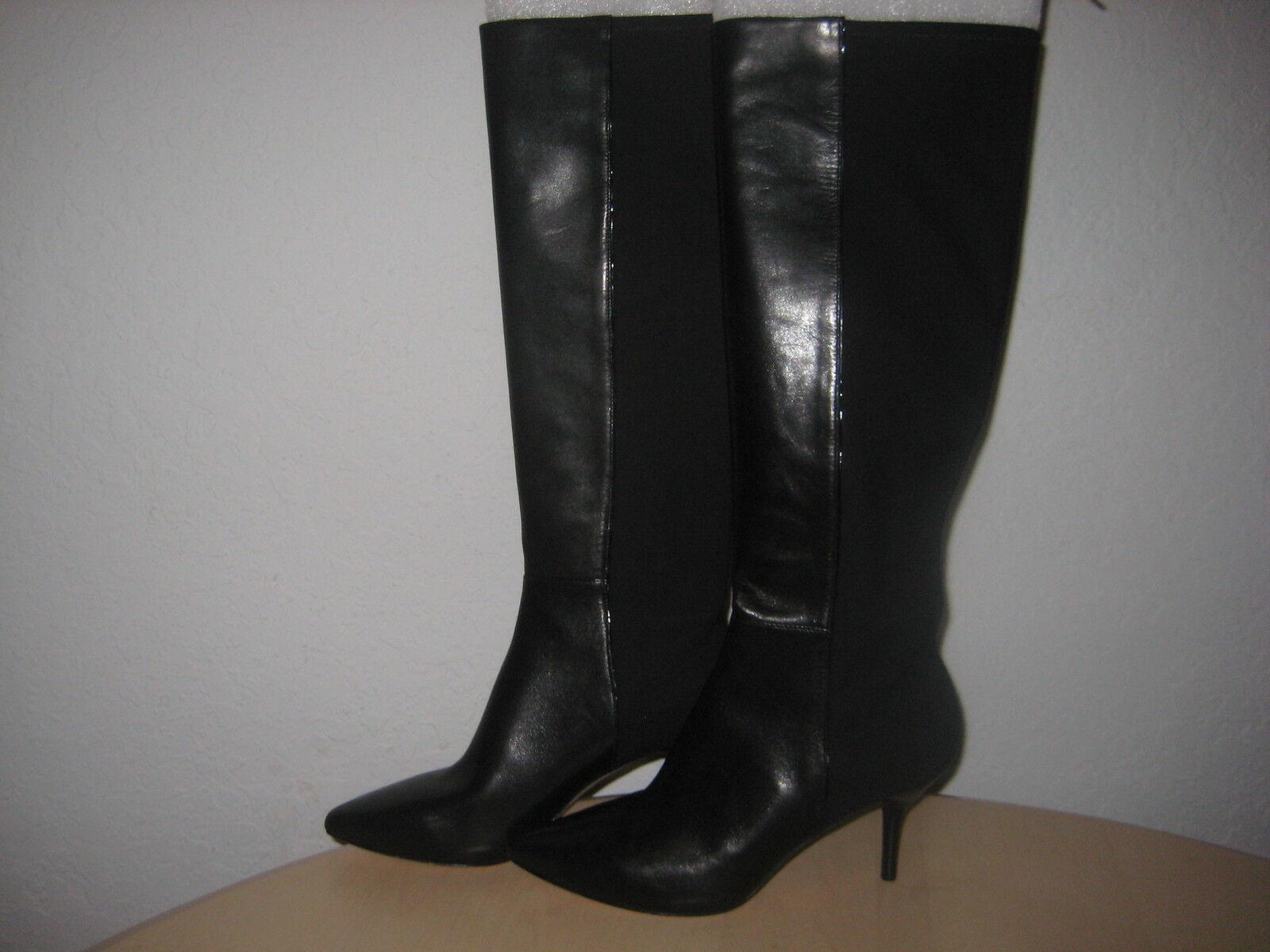 Via Spiga shoes Size 6 M New Womens Monica Black Leather Fashion Boots NWOB