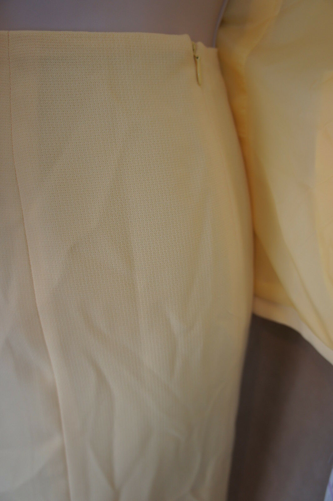 """Evan Evan Evan Picone Traje Talla 8 Mellow amarillo """"Capris"""" Dos Piezas Trabajo Falda Traje bd485e"""