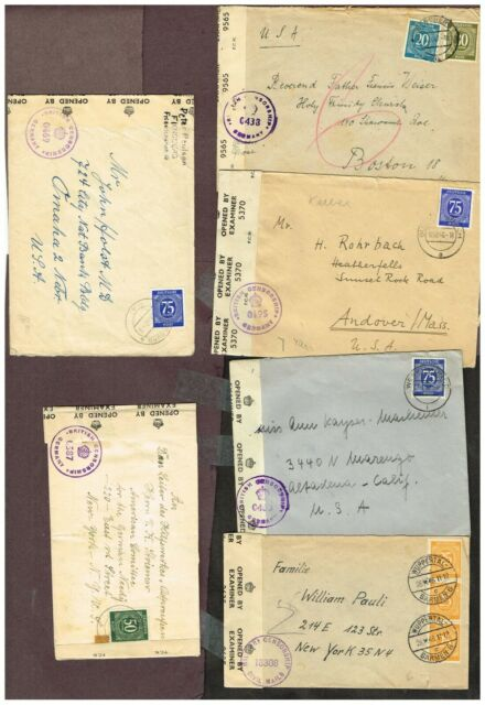 5-PAGES GERMANY    MILITARY CENSORED    (SEPT2,7