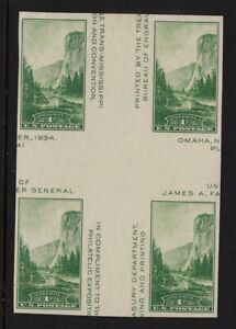 1935-Sc-769-National-Parks-mint-cross-gutter-block-CV-15-NGAI