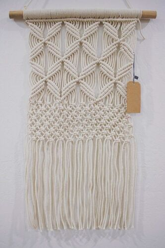 Boho Macrame Wall Hanging Decor Cotton Rope Cord Woven Tapestry Home Decoration