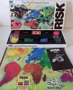 Vintage-Risk-Board-Game-By-Parker-The-World-Conquest-Game-100-Complete-1985