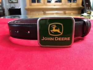 NEW! JOHN DEERE  Tractor Genuine Leather Cowhide Belt with Buckle