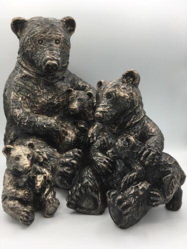 Bear and Cub Cute  home garden ornament
