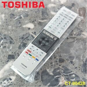 new genuine original toshiba ct 90428 tv remote control w batteries