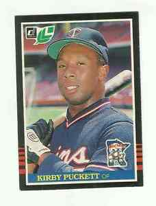 Details About 1985 Leaf Kirby Puckett Rookie Card 107see Scan