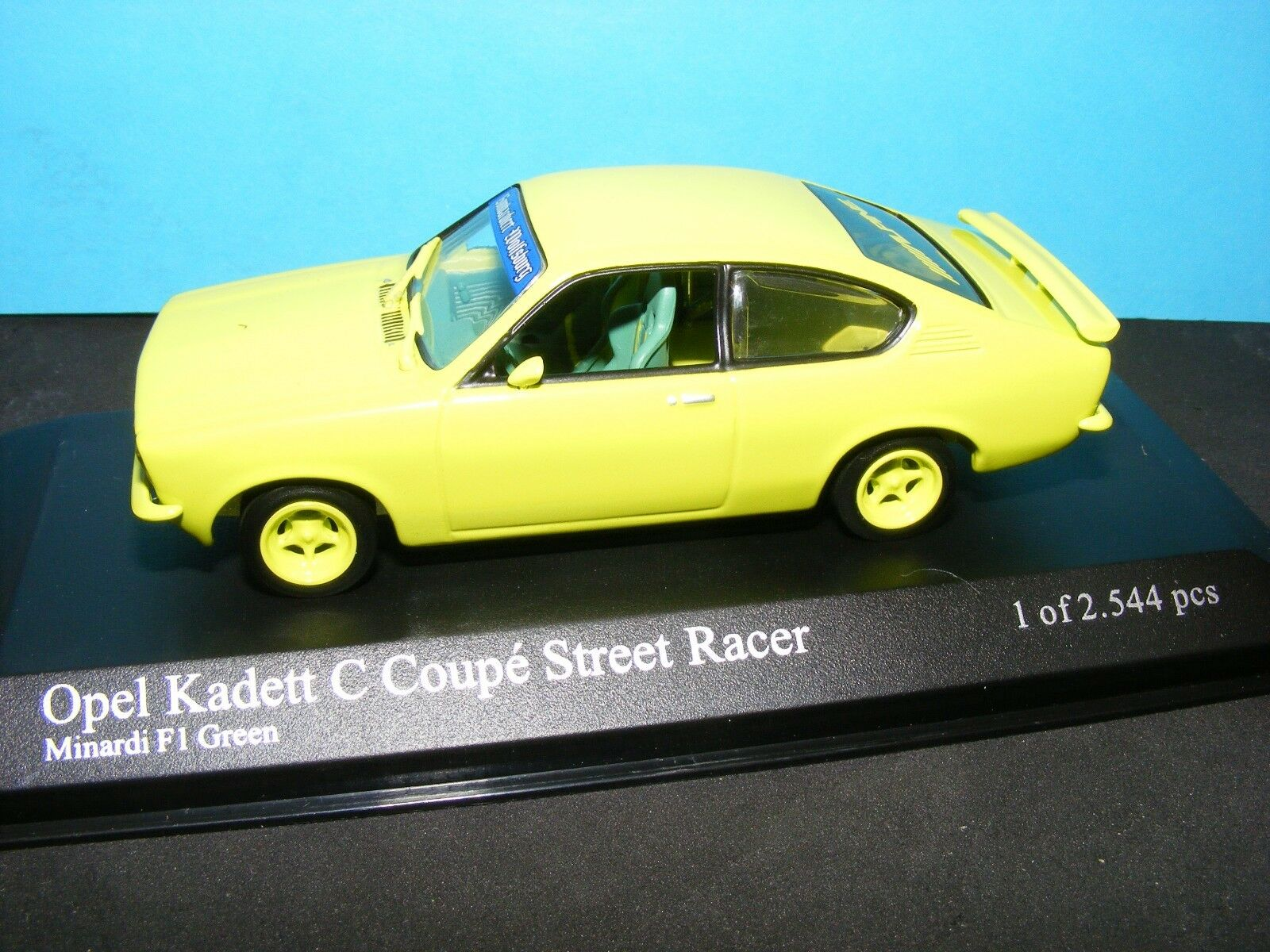 Opel Kadett C Coupe Street Racer LHD Minardi Yellow  Rare Minichamp  1 43 NLA