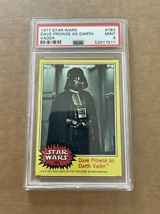 1977 Darth Vader  RC Rookie Topps Star Wars PSA 9