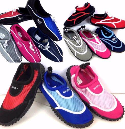 SCARPE DA SCOGLIO Water Shoes Scarpette Tessuto Sport Acqua Mare Piscina Barca