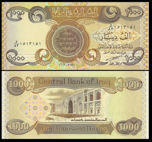 100 x 1000 IRAQI DINAR Notes =  100,000 Uncirculated IQD Active /& Authentic!!