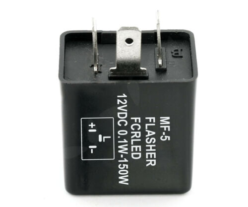 Universel 3 Pin DEL clignotant relais 12 V 120 W moto indicateur Turn Signal