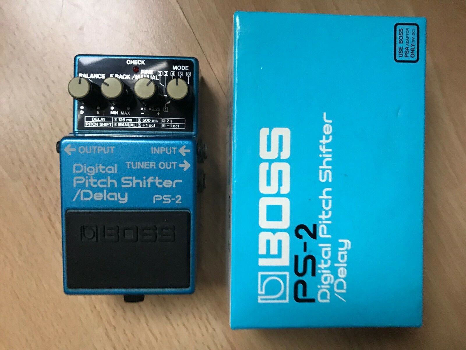 Boss PS-2 Digital Pitch Shifter   Delay (Japan) With Box