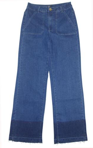 19 blue Denim cropped Marlene weite Jeans Gr Palazzojeans Kurzgr 38