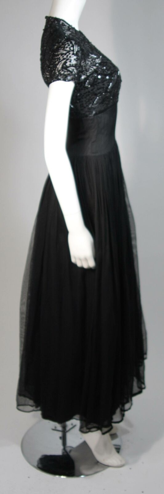 CEIL CHAPMAN Attributed Black Gown Size Small - image 6