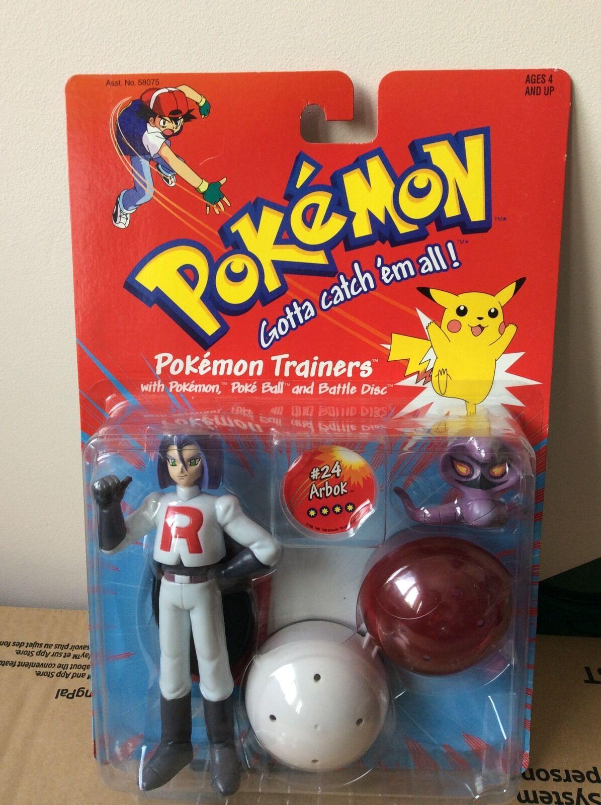Original Pokemon James And Arbok Sealed Figure Very Rare