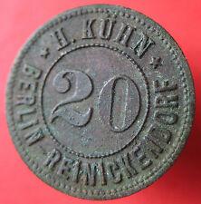 Old Rare Deutsche token -Berlin-Reinickendorf -20 pf - UNLISTED mehr am ebay.pl