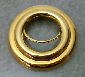 VINTAGE-SCARF-CLIP-GOLD-TONE-ROUND-DISK-SIGNED-JERI-LOU