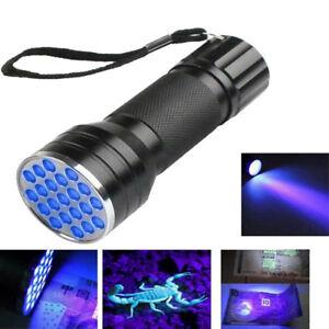 UV-Ultra-Violet-21-LED-Flashlight-Blacklight-Aluminum-Torch-Light-Lamp-Sales