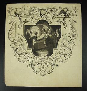 Ponctuel Antique Print Xviii Th Génese Xxiii Arrivée Du Corps Du Christ Au Saint-sépulcre
